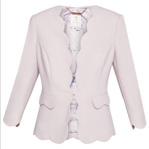 NWoT Ted Baker light pink scalloped blazer